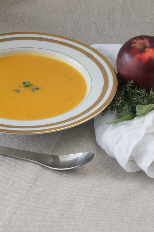Butternut Squash Soup With Apple And Sage Recipe — Dishmaps