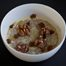 Thumbnail image for Irish Oatmeal with Cream, Kerrygold Butter, Celtic Salt, Warm Celtic Crossing Liqueur-soaked Golden Raisins, and Toasted Walnuts