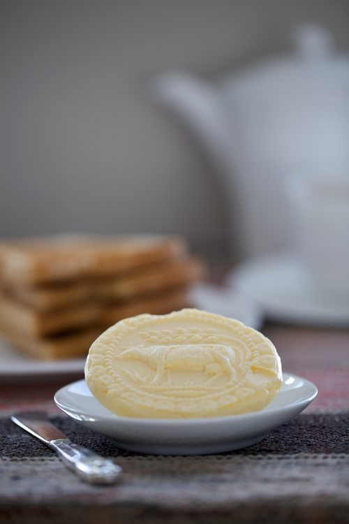 Post image for Homemade Cultured Butter Pressed with a Hand-carved Butter Mold