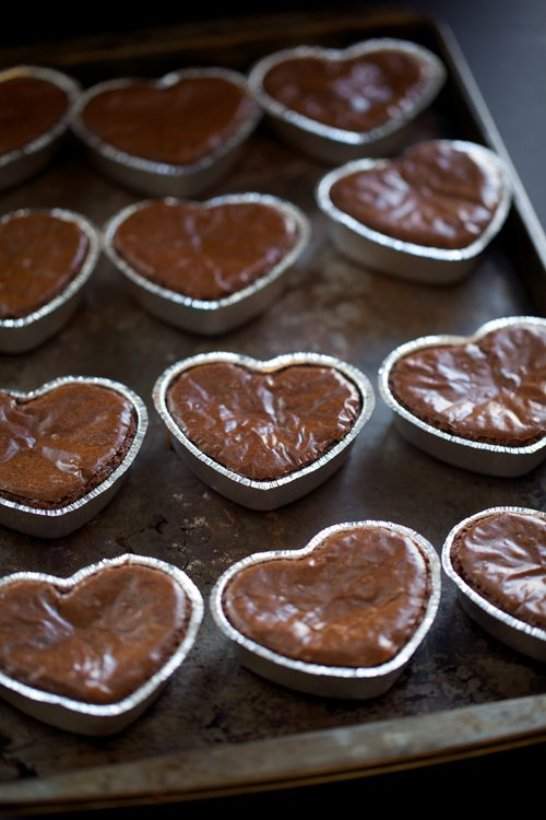 Heart Shaped Brownies With Fudge Frosting