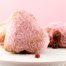 Thumbnail image for Heart-shaped Jam Doughnuts Rolled in Pink Sugar