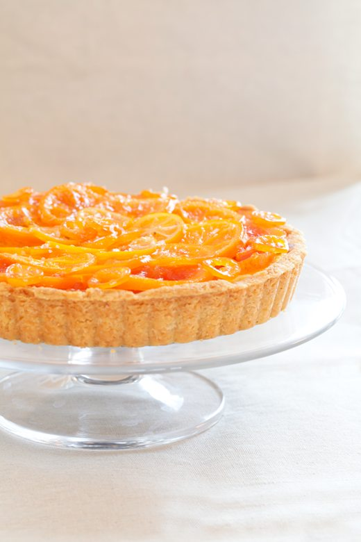 Late Winter Tart: Candied Winter Citrus with Vanilla Custard, Dark ...