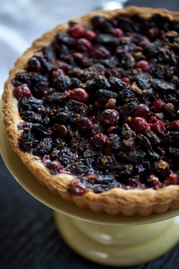 Cranberry Tart with Cognac-soaked Raisins, Tangerine Zest, and Dark ...