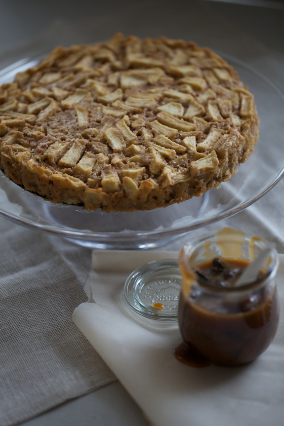 Seriously Simple Apple Tart with Hot Buttered Rum Raisin Sauce
